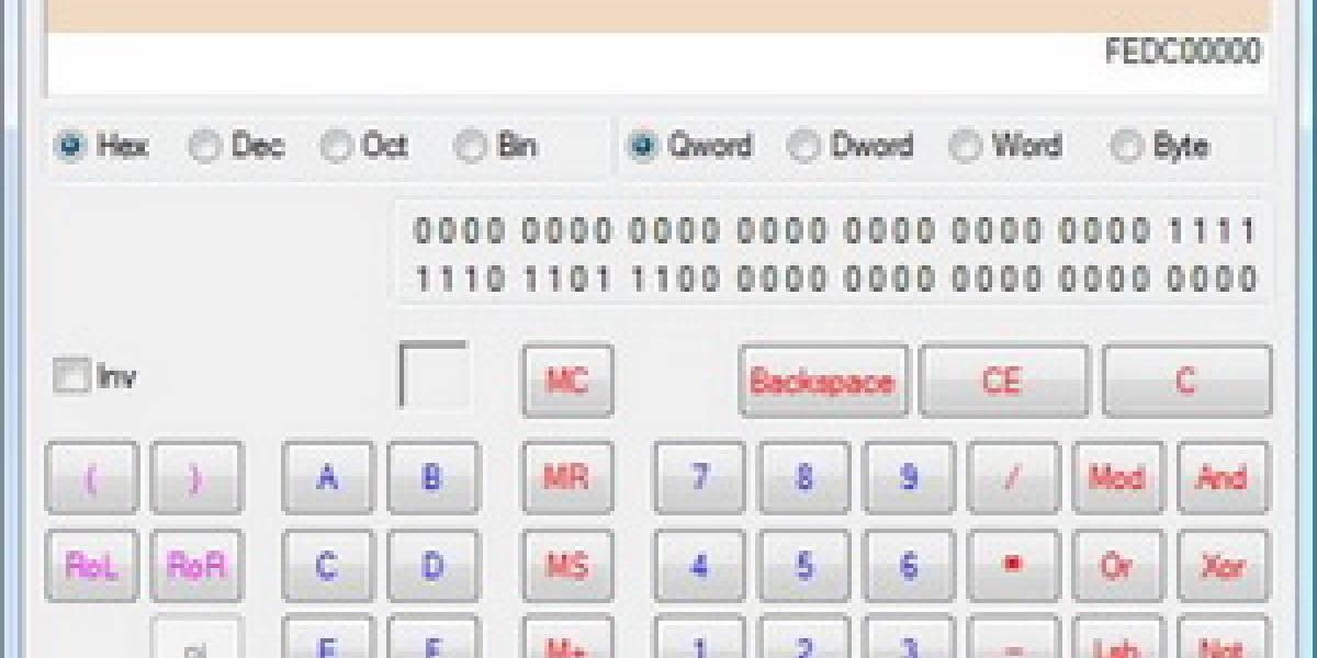 La calculadora de Windows 7