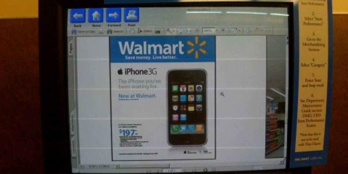 iPhone de 4GB a USD$99 en Wal-Mart comienza a verse lejano