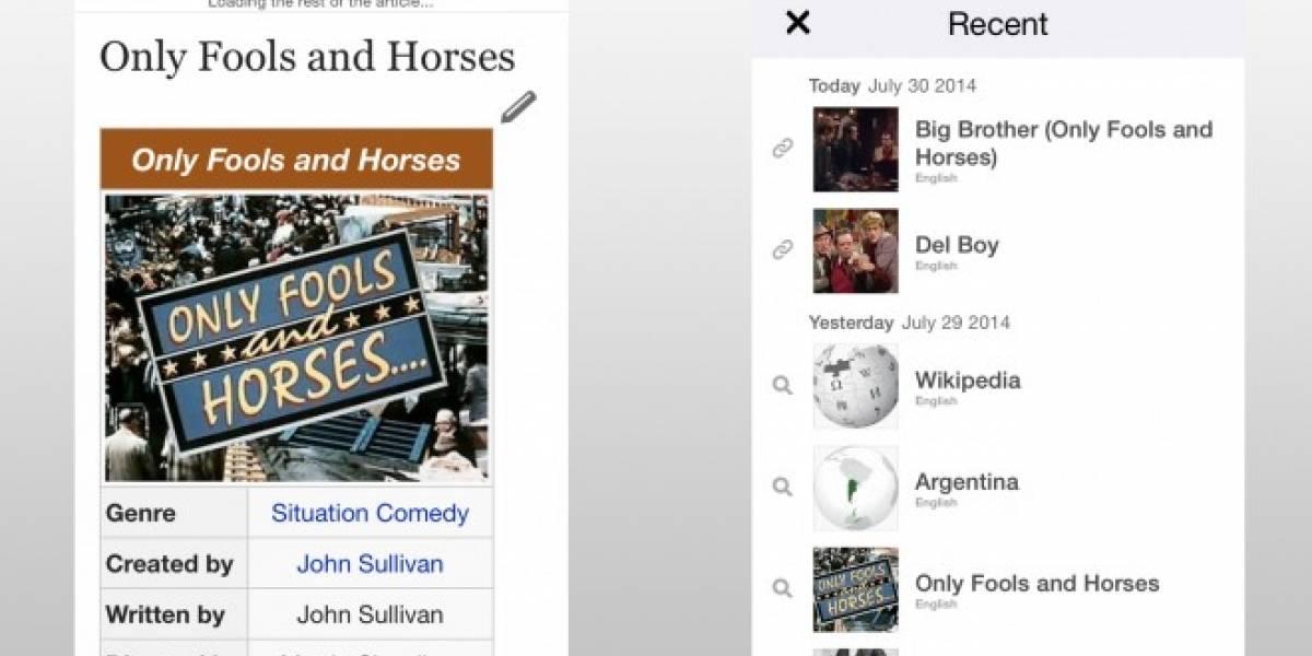 Wikipedia rediseña su aplicación para iOS y ahora puedes editar entradas