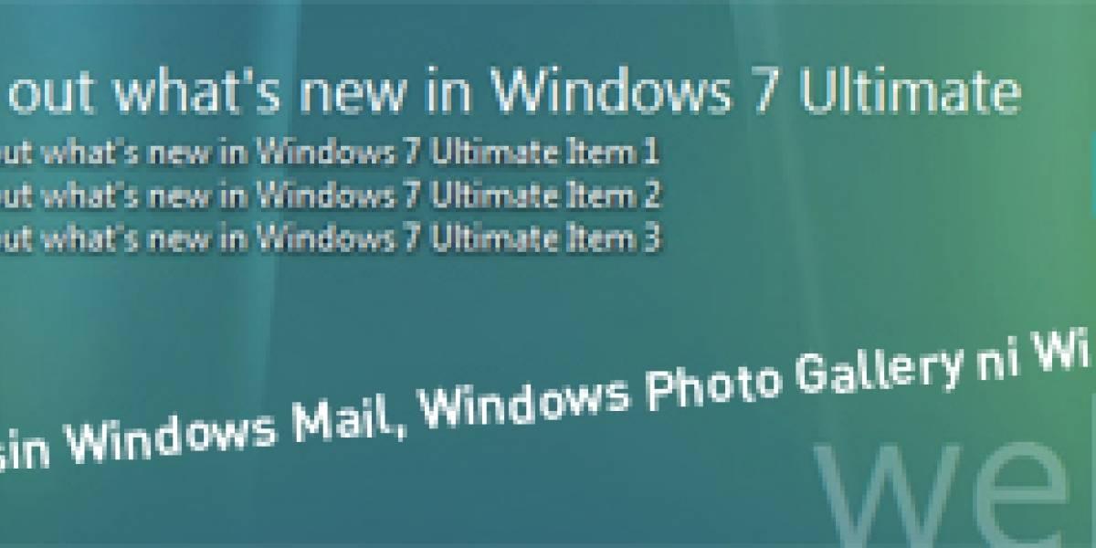 Windows 7 no incluirá cliente de correo ni editor de fotos y video