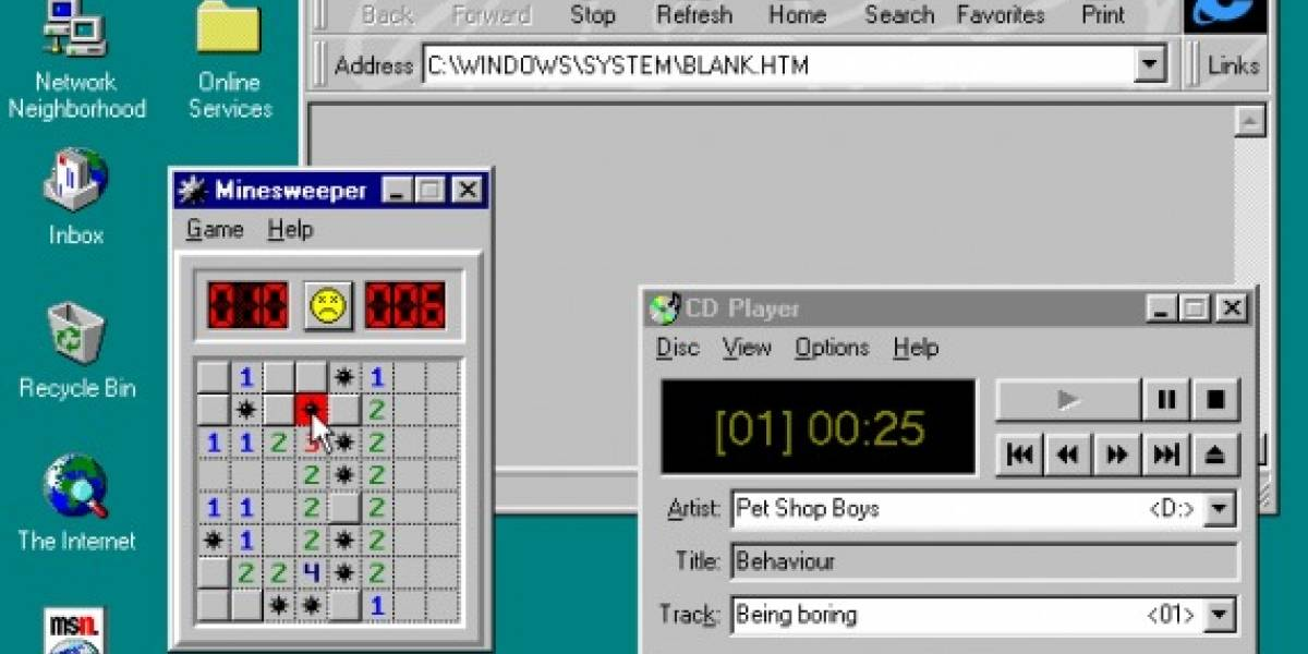 Felices 15 años, Windows 95