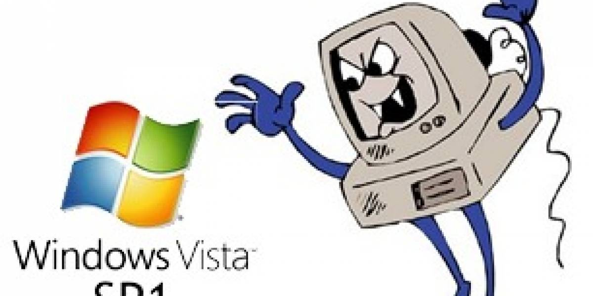 Vista SP1 se come drivers, tira pantallas azules y negras, deja a sus usuarios felices