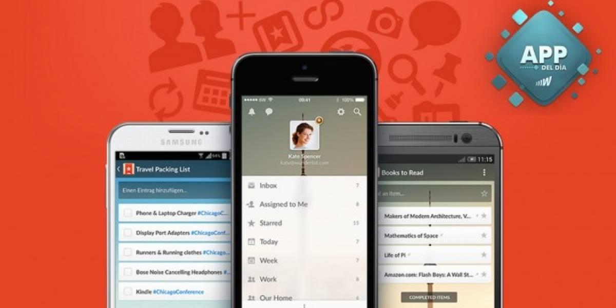 Wunderlist, el mejor gestor de listas para toda plataforma [App del día]