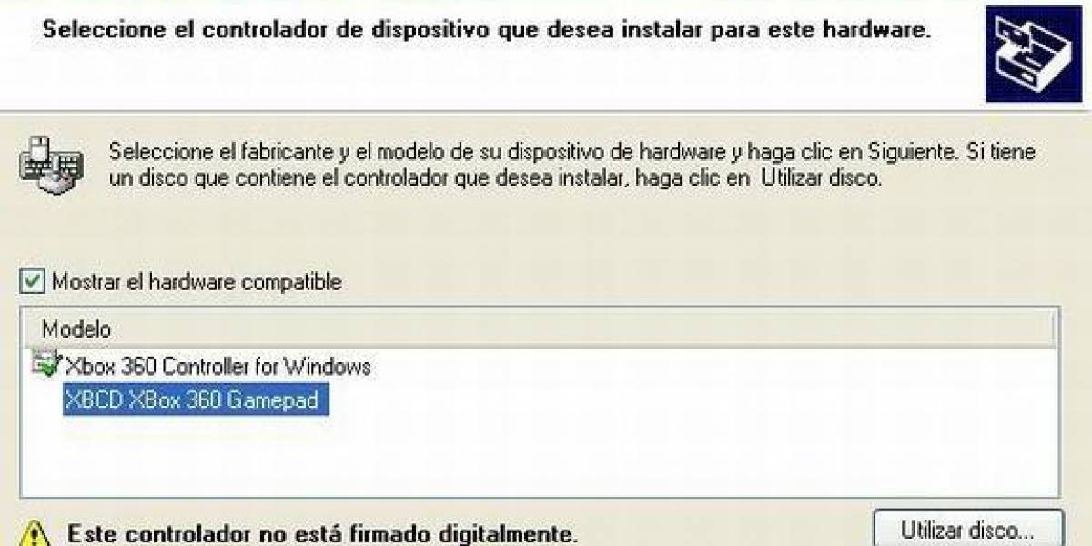 Cómo instalar un control de Xbox 360 en Windows XP