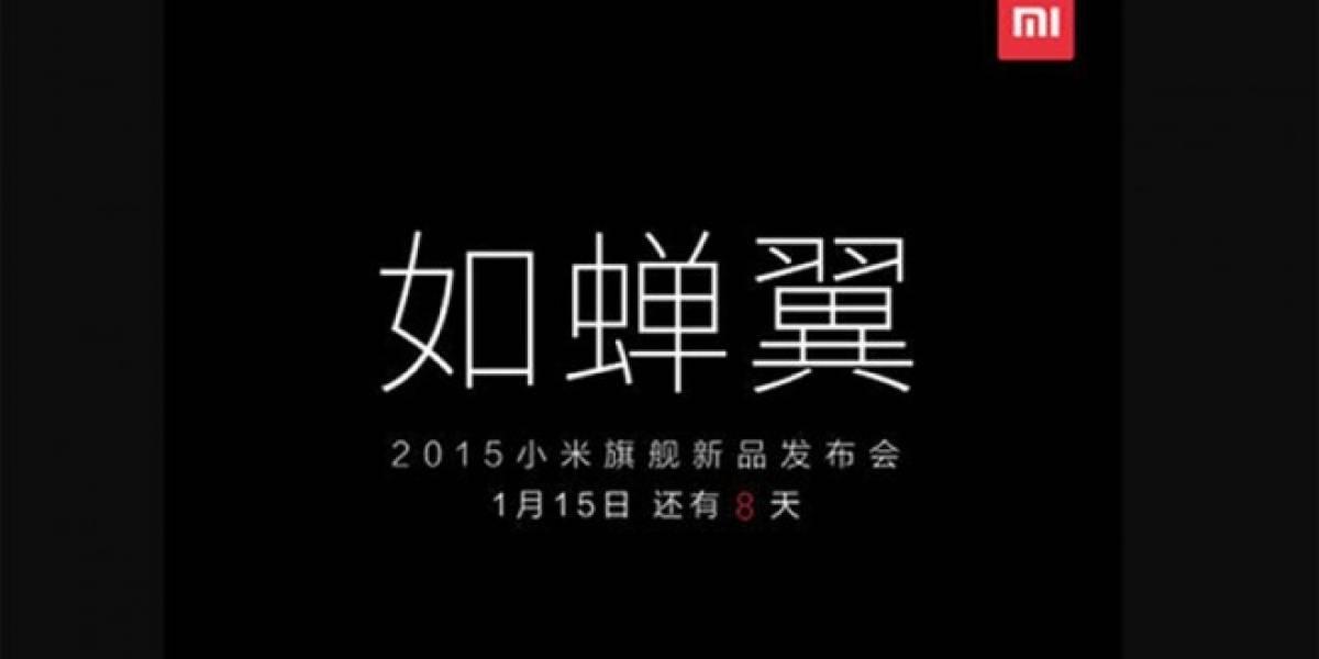 Xiaomi está por anunciar un nuevo teléfono ultra delgado