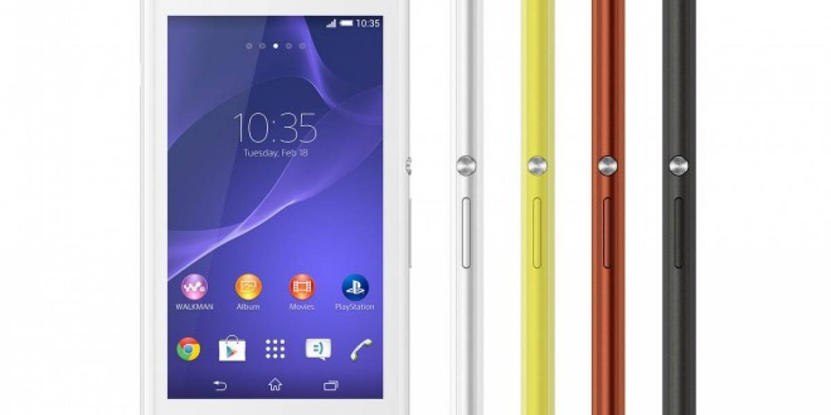 Sony Xperia E3 de bajo costo disponible en México