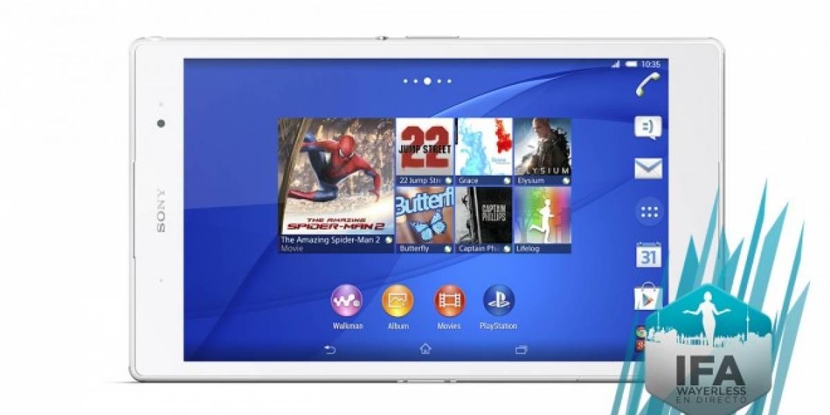 Sony Xperia Z3 Tablet Compact, para usuarios exigentes de manos pequeñas #IFA2014