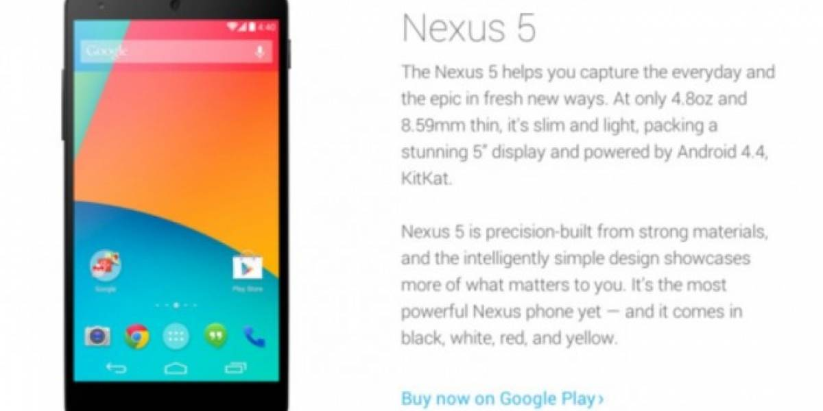 Google contempla la llegada del Nexus 5 en color amarillo