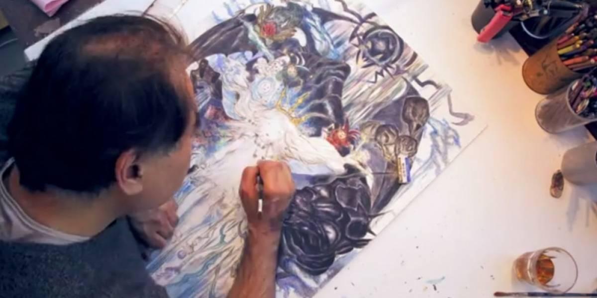 Yoshitaka Amano dibuja arte conceptual de Child of Light en video