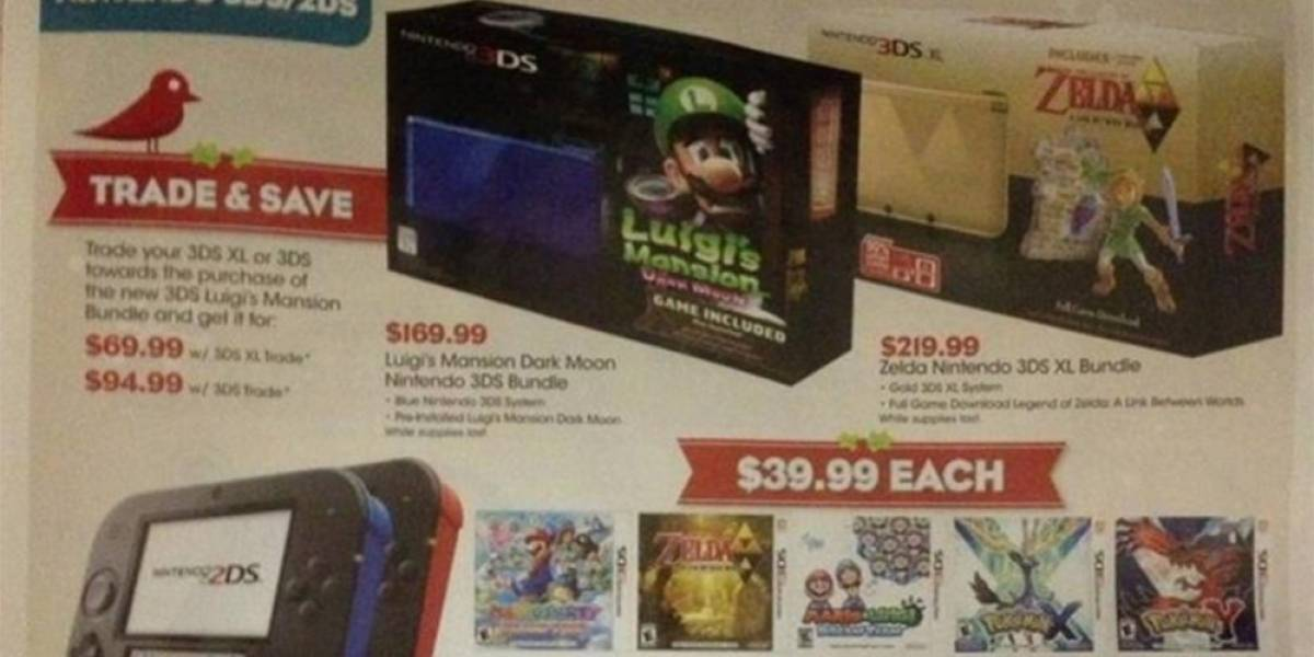 Bundle de Nintendo 3DS XL con TLoZ: A Link Between Worlds llegará a América