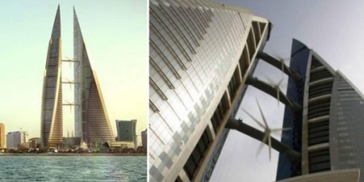 Comienzan a funcionar las tres turbinas de viento del Bahrain WTC