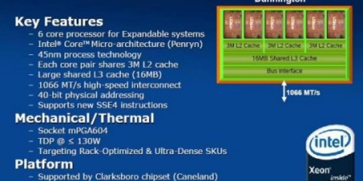 Dunnington: Intel alista su procesador de seis núcleos