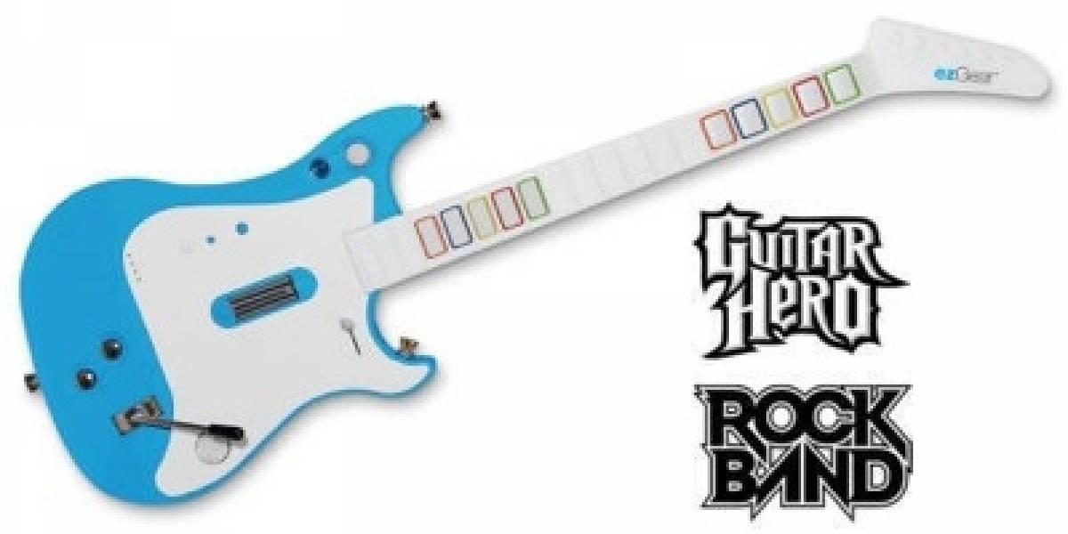 ezJam para la Wii:Una sola guitarra para Guitar hero y Rock Band