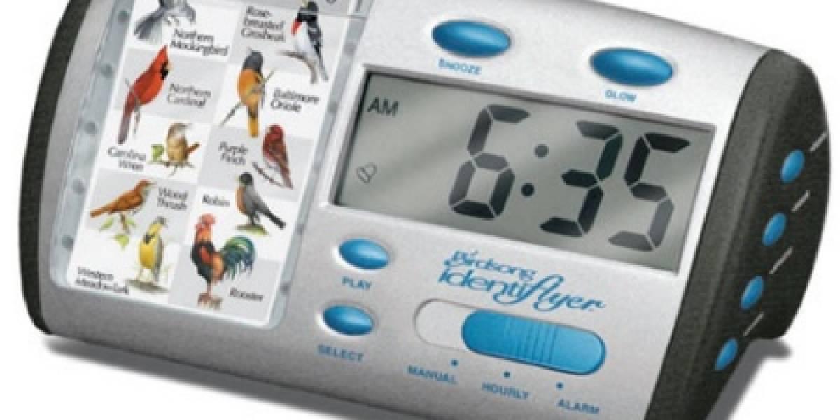 Despertador con sonido de pájaros