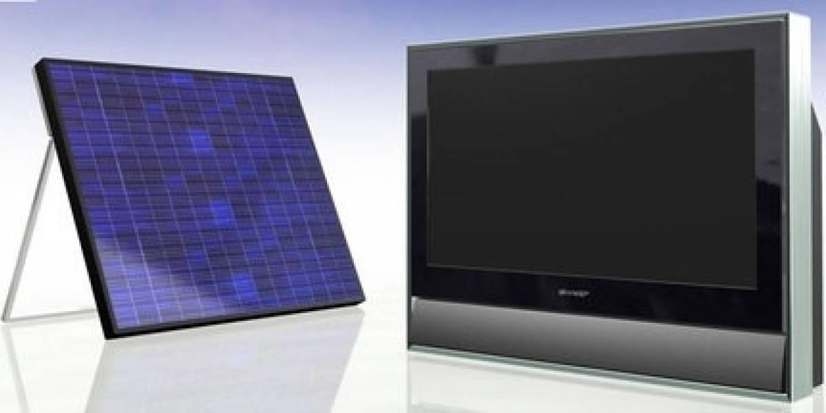 Televisor LCD con cargador solar