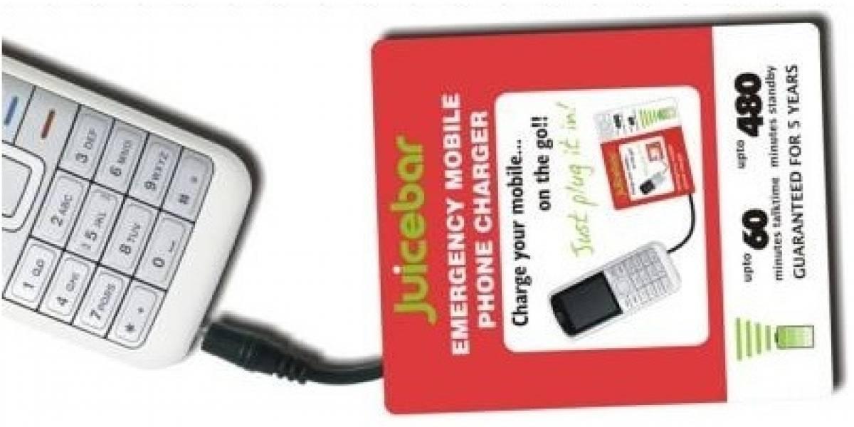 Juicebar: Cargador de emergencia para teléfonos celulares
