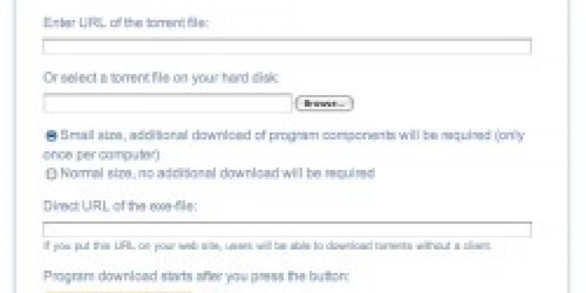 Torrent2Exe: Convierte tus archivos torrent en ejecutables