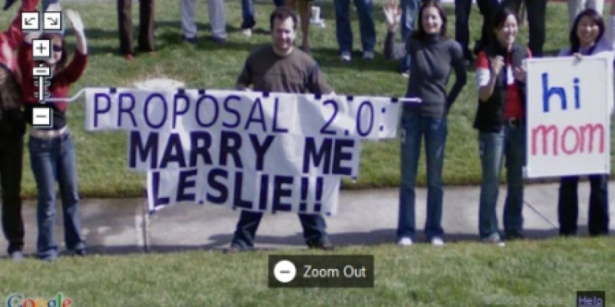 Google Street View sirve para pedir matrimonio