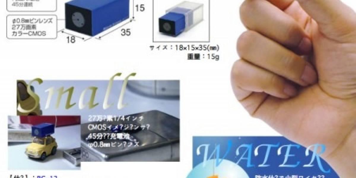 RC-12: Cámara miniatura inalámbrica y sumergible