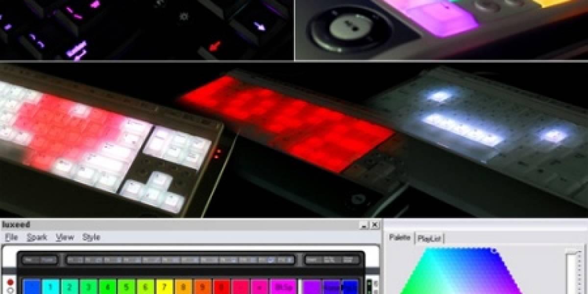 Teclado iluminado Luxeed Dynamic Pixel LED