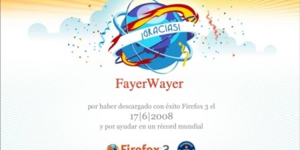 Y ya que ayudaste a Firefox 3 a lograr un récord...