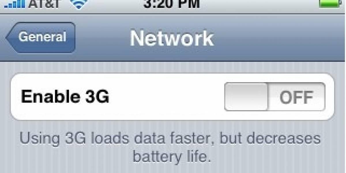 Último Firmware del iPhone tiene opción 3G
