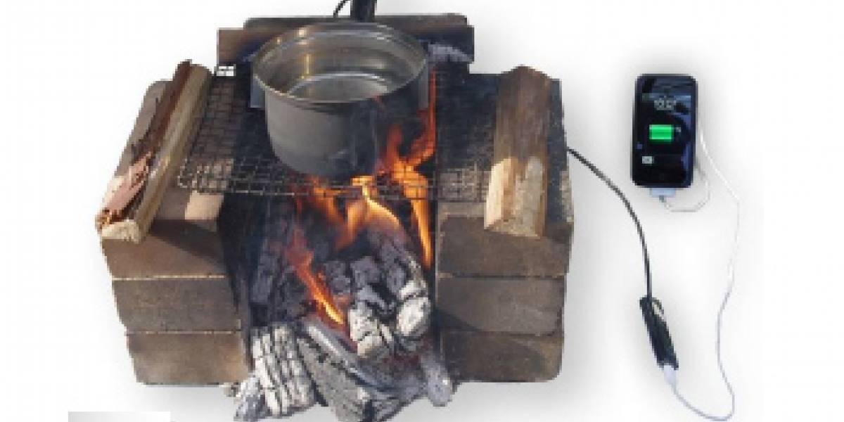 Recarga la batería de tu móvil con ¡fuego!