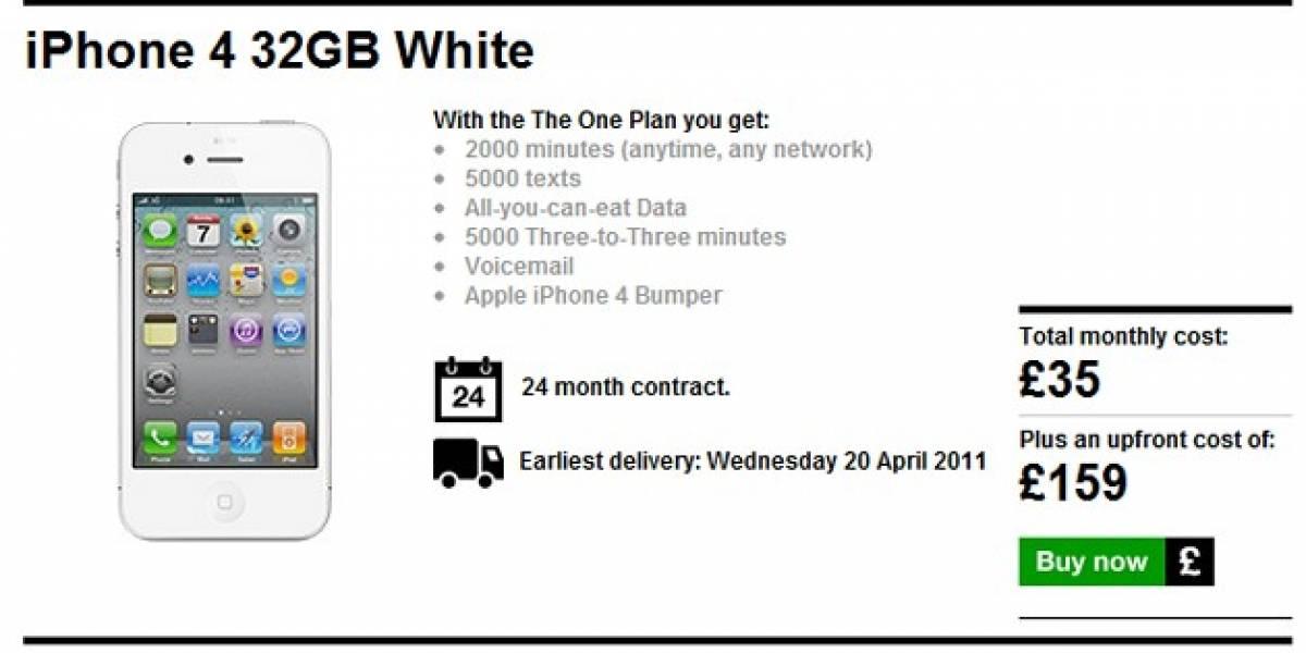 El iPhone blanco empieza a venderse. Más o menos
