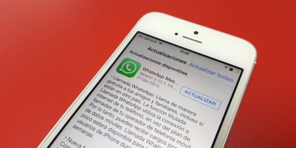 Las llamadas de voz de WhatsApp comienzan a llegar al iPhone