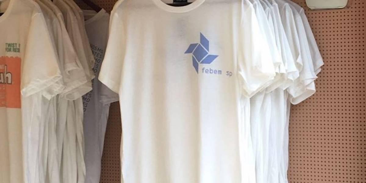 Marca de camisetas cria polêmica ao vender camiseta com logo da Febem por R$ 96