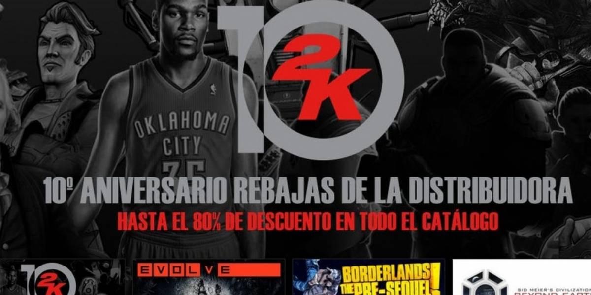 2K Games celebra su décimo aniversario con venta especial en Steam