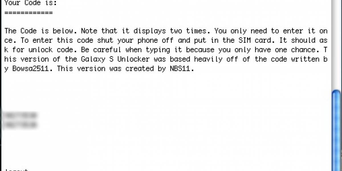 Código que se necesita para liberar el Galaxy S se encuentra en su memoria interna
