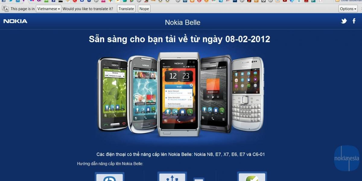 Actualización a Nokia Belle llega el 8 de febrero [actualizado]