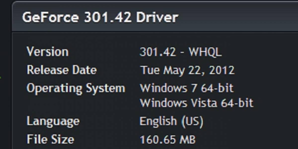 NVIDIA lanza sus nuevos controladores GeForce 301.42 WHQL