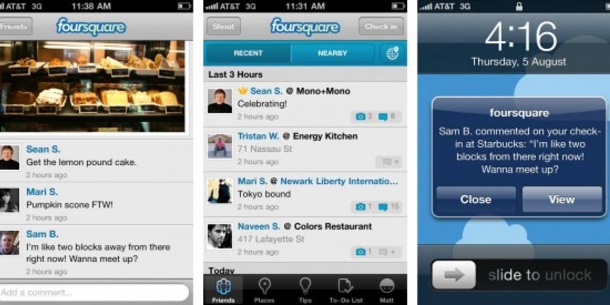 Foursquare agrega fotos y comentarios en su versión para iPhone
