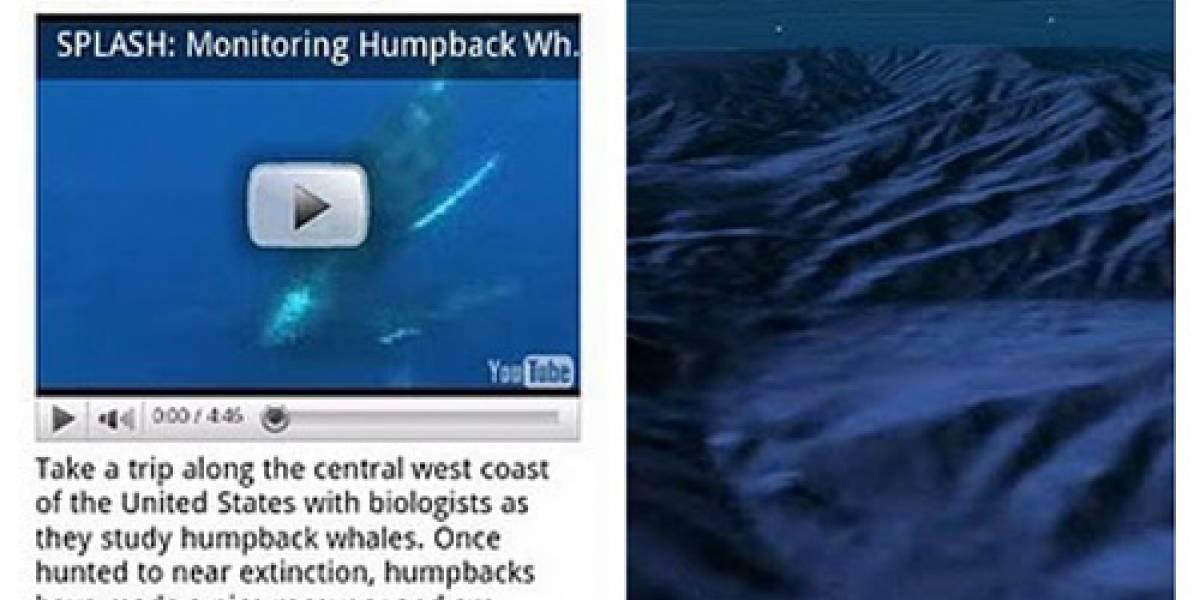 Actualización de Google Earth para Android te permite sumergirte al fondo del mar