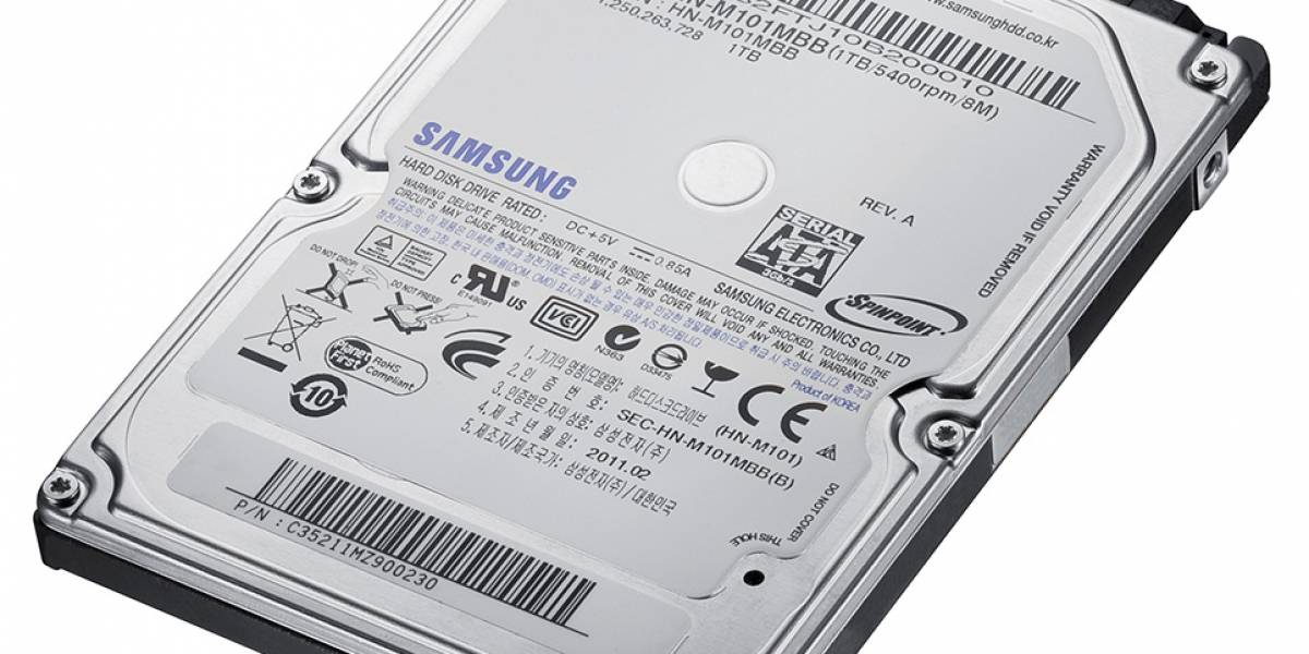 Samsung presenta su disco duro de 1TB para notebooks