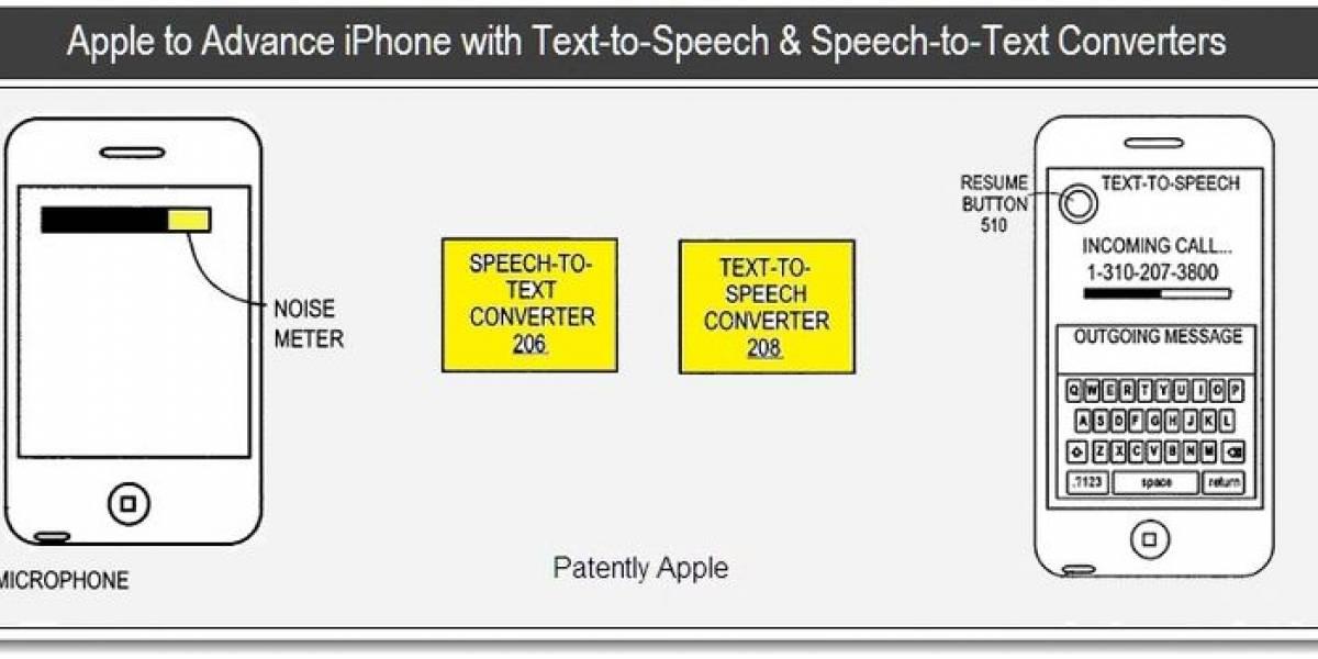 Apple trabaja en sistema para el iPhone que convierte voz en texto y texto en voz