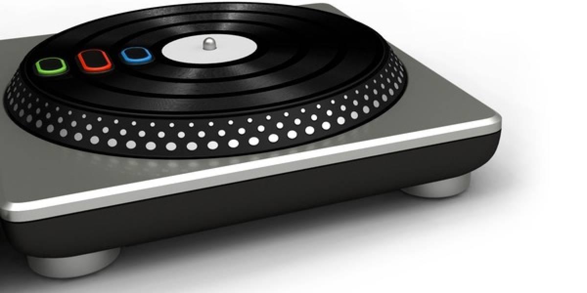 Con ustedes... el controlador de DJ Hero