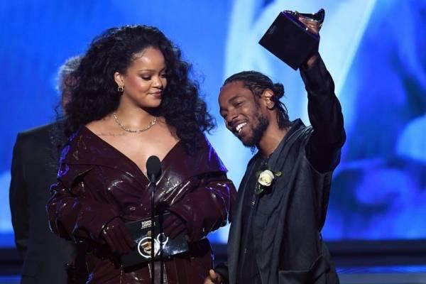 Kendrick Lamar en los Grammy 2018