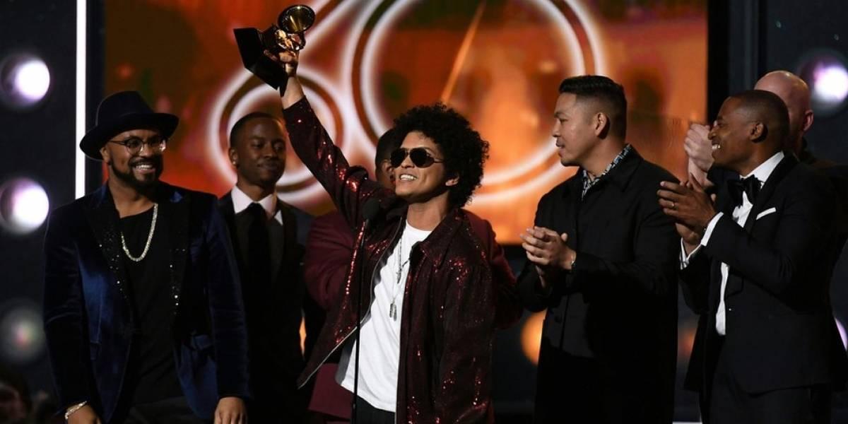 Grammy 2018: estos son los ganadores de una gala en la que el cantante Bruno Mars da la sorpresa y se lleva los 3 premios más codiciados de la música