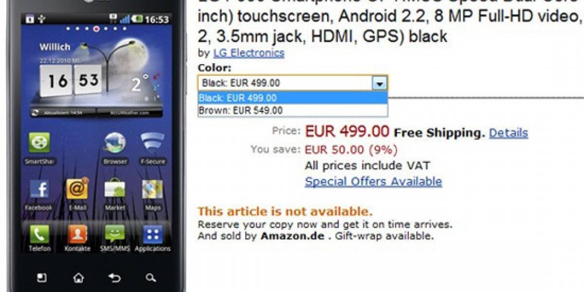 LG Optimus 2X y Optimus Black aparecen con precio en Amazon Alemania