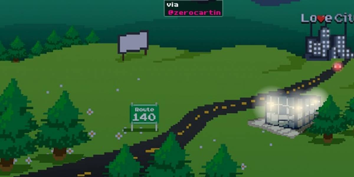 Tweet Land convierte los tuits en elementos activos de un videojuego