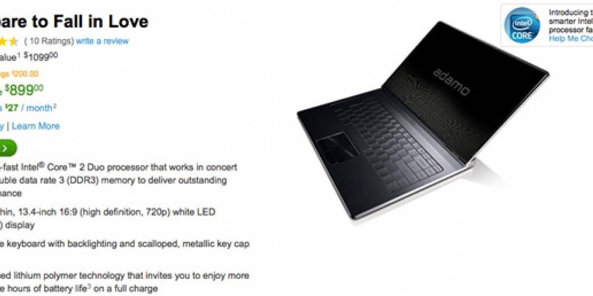 Dell rebaja precio de su portátil ultradelgado Adamo
