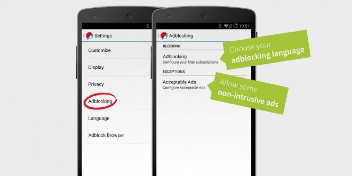 Adblock Browser bloquea publicidad en Android
