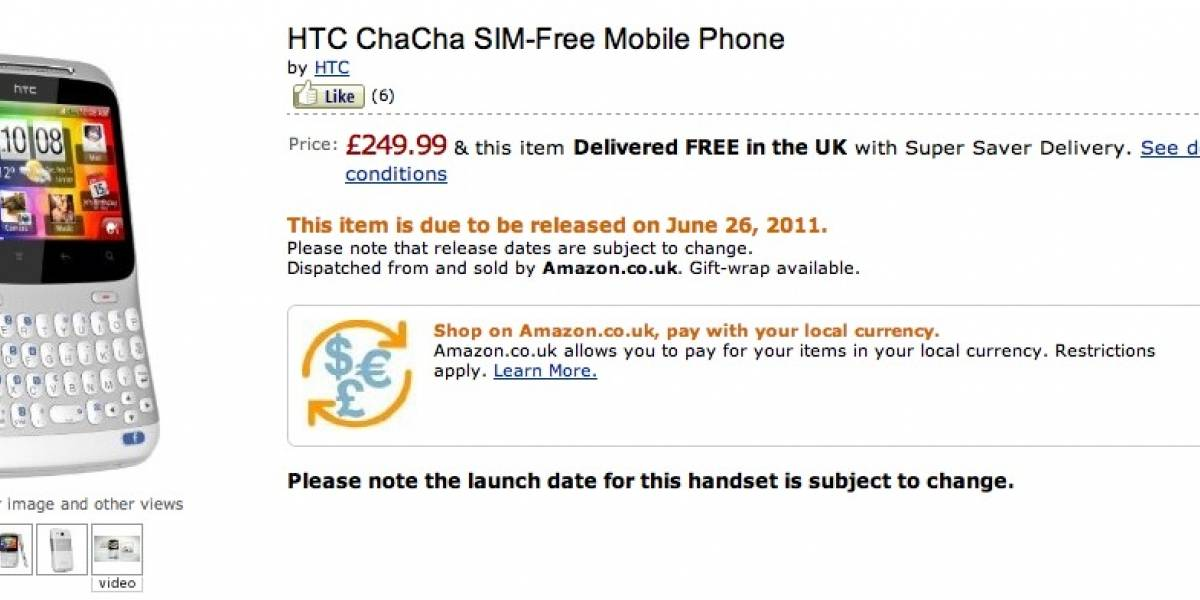 HTC Salsa y ChaCha ya en preventa en Amazon UK