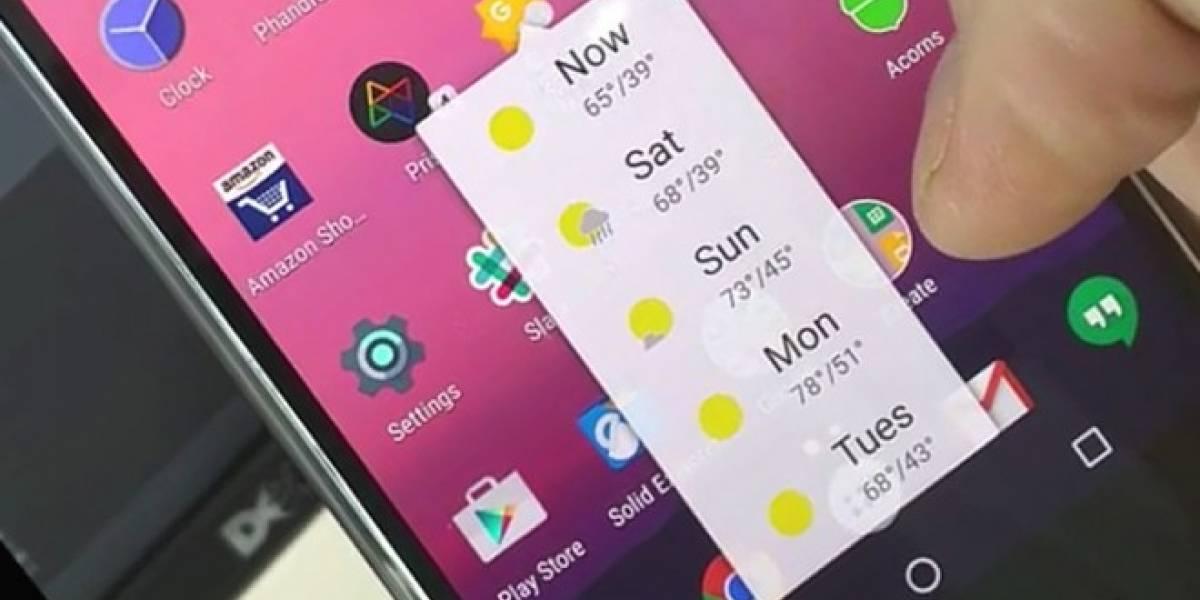 Así se ven los atajos similares al 3D Touch en Android N
