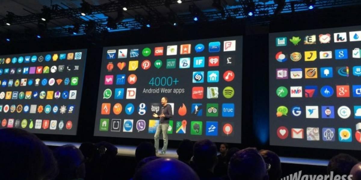 Android Wear ya cuenta con más de 4.000 aplicaciones compatibles #io15