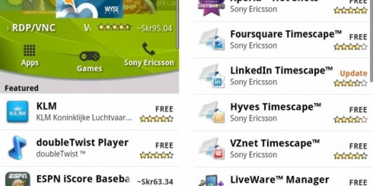 Sony Ericsson abre su propia sección dentro de Android Market