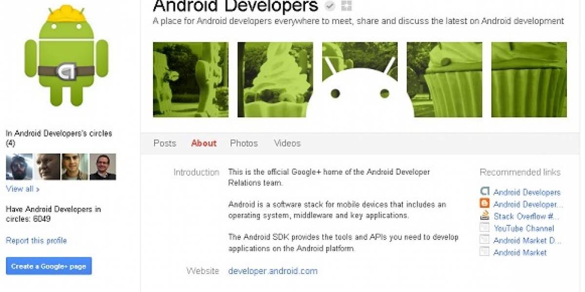 Un perfil en Google+ para los desarrolladores Android